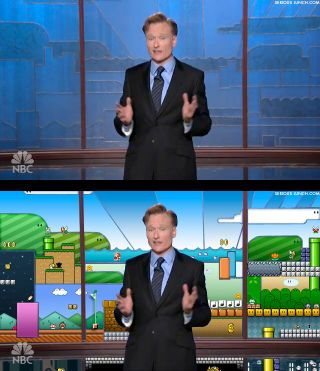 Conan's backdrop in comparison to the video game